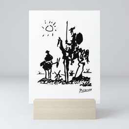 Pablo Picasso Don Quixote 1955 Artwork Shirt, Reproduction Mini Art Print