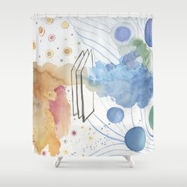 Door To The Future Shower Curtain
