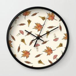 Fall pattern Wall Clock