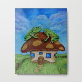 Cathy's Frogs Metal Print