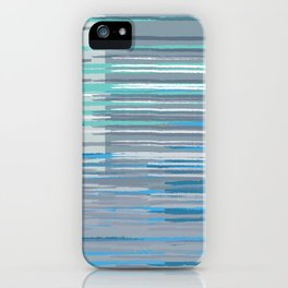 Blue Lines iPhone Case