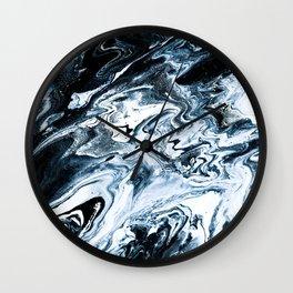 M A R B L E - dark blue & white Wall Clock