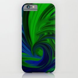 Blue and Green Wave iPhone Case