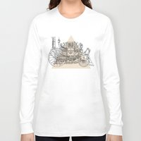 steam punk Long Sleeve T-shirts featuring Steam punk carriage by grop