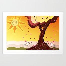 Under the tree part II Art Print