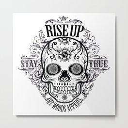 Rubino Rise Up Skull Metal Print