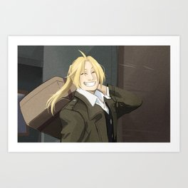 FMA Brotherhood Edward Elric Art Print