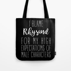 High Expectations - Rhysand Black Tote Bag