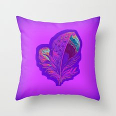 Lee's Purple Feather Throw Pillow