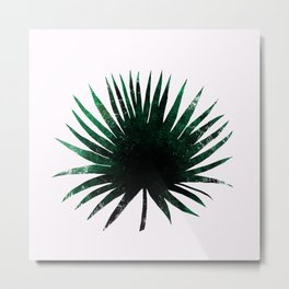 Round Palm Leaf Metal Print