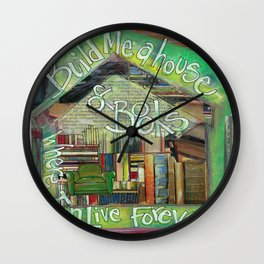 House of Books Wall Clock
