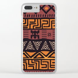 Tribal ethnic geometric pattern 021 Clear iPhone Case
