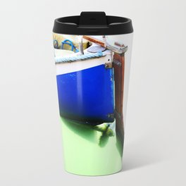 The fishing boat and the water Travel Mug