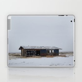 Hopeless, Abandoned, and Alone Under Grey Snow Filled Sky Laptop & iPad Skin