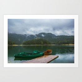 Black Lake Art Print