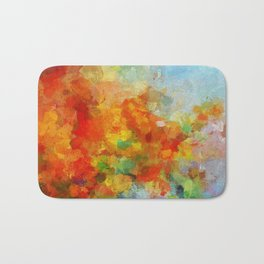 Abstract and Minimalist Landscape Painting Bath Mat