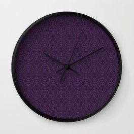 Purple Stag Damask Wall Clock