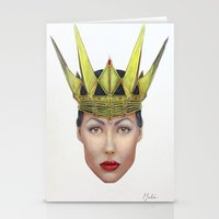 evil queen Stationery Cards featuring Evil Queen by Christina Quackenbush