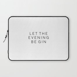 HOME BAR DECOR, Let The Evening Be Gin,Funny Bar Decor,Alcohol Sign,Drink Sign,Bar Wall Art,Gin And Laptop Sleeve
