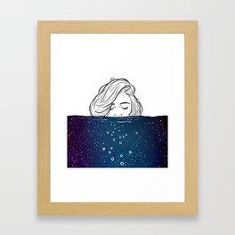 Deep breathing. Framed Art Print