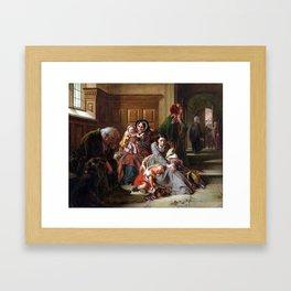 Abraham Solomon Waiting for the Verdict Framed Art Print