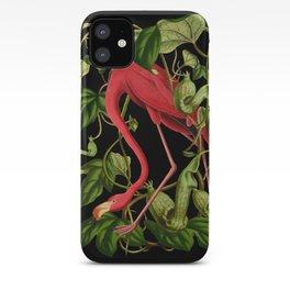 Flamingo Black iPhone Case