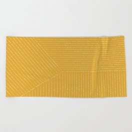 Lines / Yellow Beach Towel