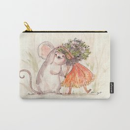 Thumbelina and the Mouse! Carry-All Pouch