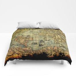 Vintage Old World Map Comforters