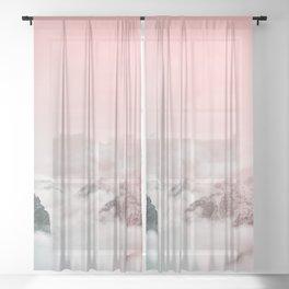 MOUNTAIN DREAM XV Sheer Curtain