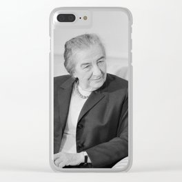 Golda Meir - Israeli Prime Minister Clear iPhone Case
