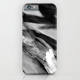Abstract Artwork Greyscale #1 iPhone Case