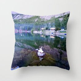 Shangrila Lake Throw Pillow