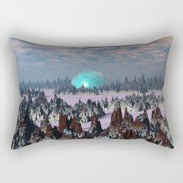 Sci Fi Landscape Rectangular Pillow
