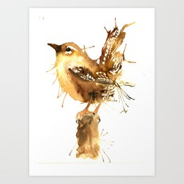 Mr Wren Art Print