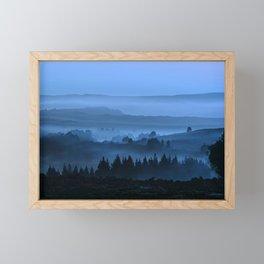 My road, my way. Blue. Framed Mini Art Print