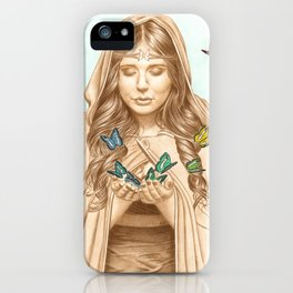 The Butterfly Girl iPhone Case