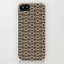 Pantone Hazelnut and Black Rings Circle Heaven, Overlapping Ring Design iPhone Case