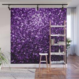 Beautiful Dark Purple glitter sparkles Wall Mural