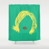 monroe Shower Curtains featuring Monroe by fly fly away