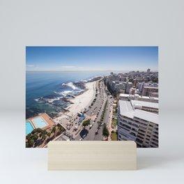 Sea Point in Cape Town, South Africa Mini Art Print