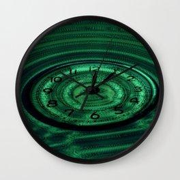 Hands of Time Green Rippling Water Art Motif Wall Clock
