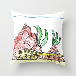 Resting Ray Throw Pillow