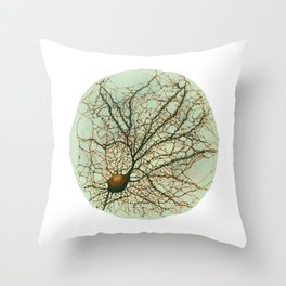 Neuron Watercolour Throw Pillow