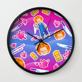 1997 Neon Rainbow Evil Murder Good Guy Doll Wall Clock