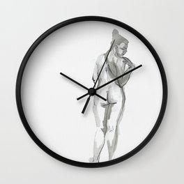 Wearing Nude Wall Clock