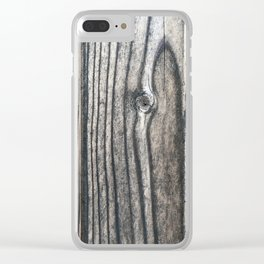 Weathered Rustic Wood Grain Clear iPhone Case