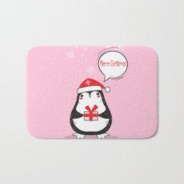 Christmas Penguin Bath Mat