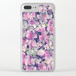 Pink Water Blossoms Clear iPhone Case