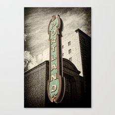 Portland Oregon Marquis Canvas Print